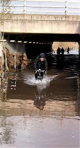 John finds deep water