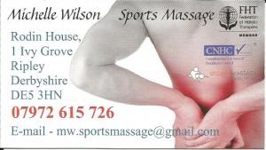 Sports massage Michelle