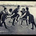 Girls learn to ride bike