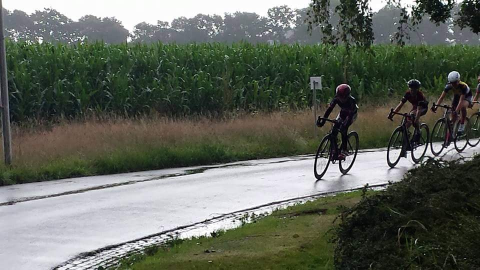 Carter in the Assen rain